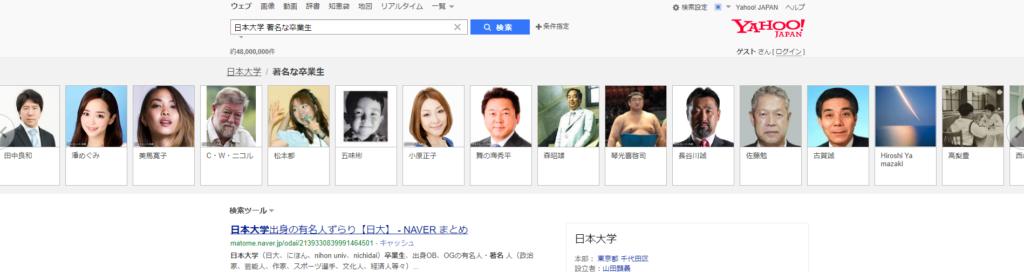 日本大学 著名な卒業生